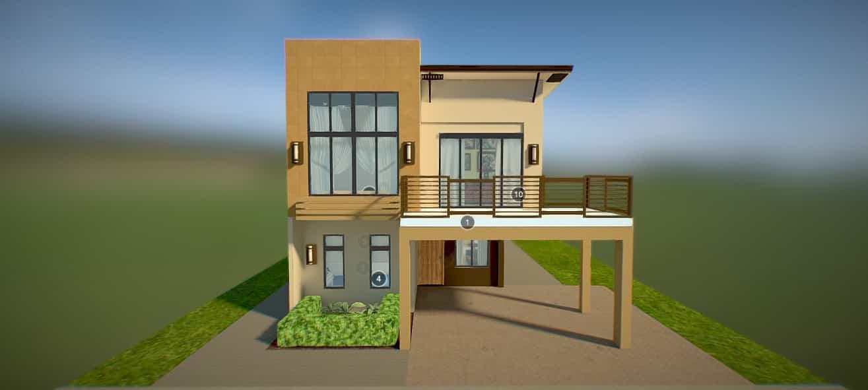 Briana House Model 3d Render